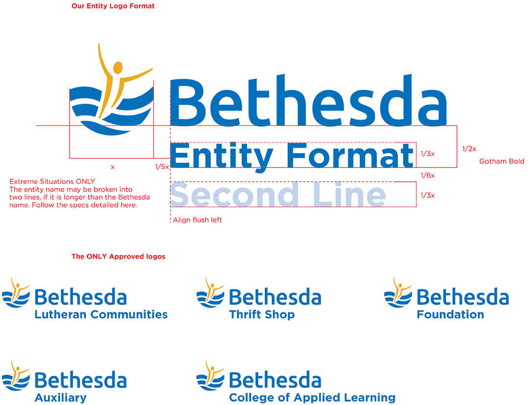 Image of Bethesda Design Standards Logo Guidelines for Entity Logo Formats