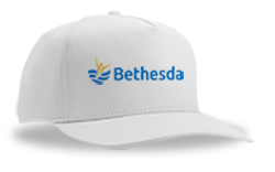 image of a baseball cap with the bethesda logo